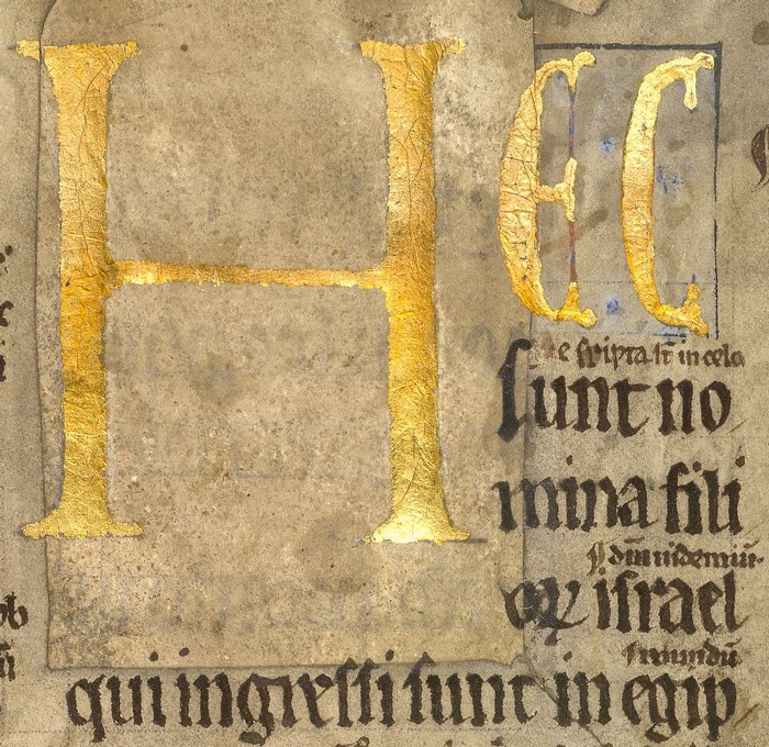 Burney MS 13, f. 1